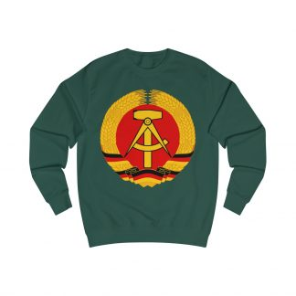 german democratic republic sweatshirt bottle green