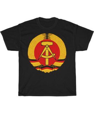 GDR german democratic republic t shirt black