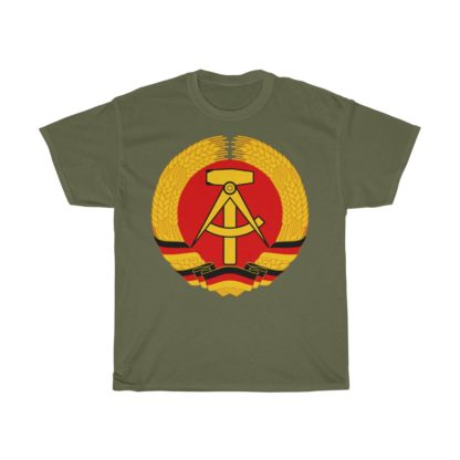 german democratic republic t shirt olive green