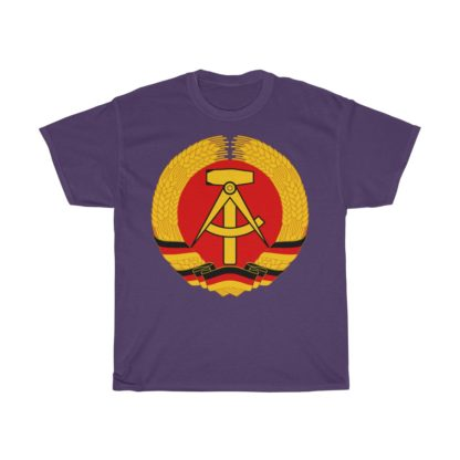 german democratic republic t shirt purple