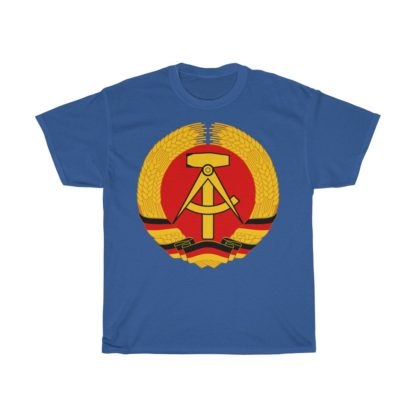 german democratic republic t shirt royal blue