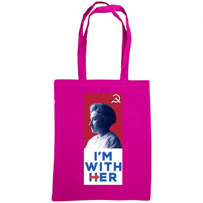 im with her bag rosa luxemburg fuscia