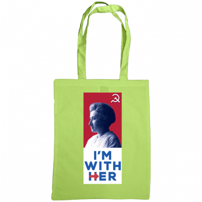im with her bag rosa luxemburg lime