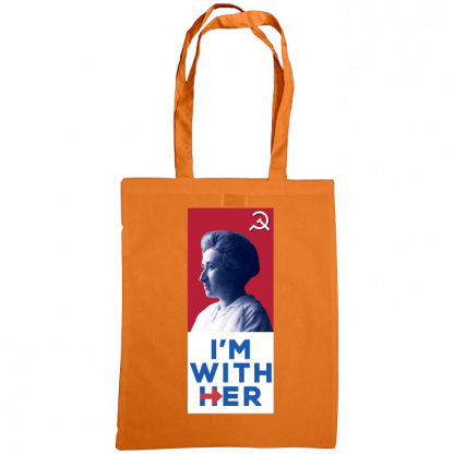im with her bag rosa luxemburg orange