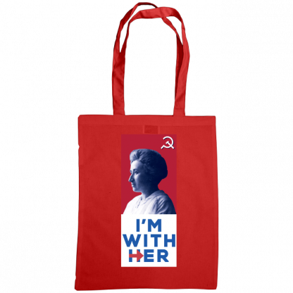 im with her bag rosa luxemburg royal red