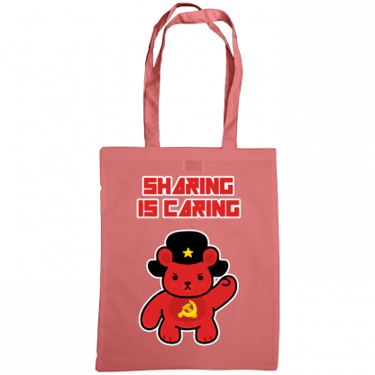 Sharing is caring sharebear bag classic pink