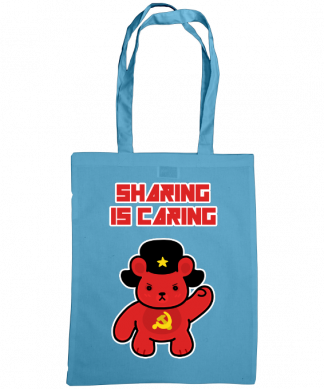 Sharing is caring sharebear bag cornflower