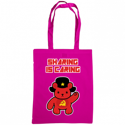 Sharing is caring sharebear bag fuscia
