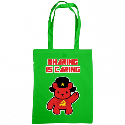 Sharing is caring sharebear bag green