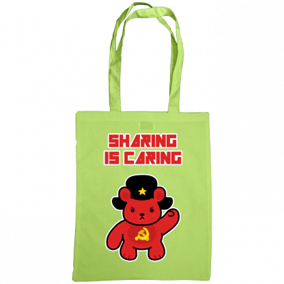 Sharing is caring sharebear bag lime.png