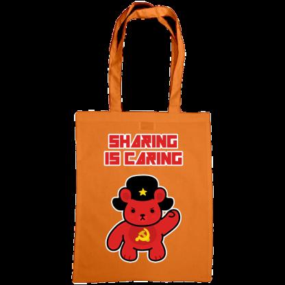 Sharing is caring sharebear bag orange