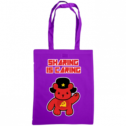 Sharing is caring sharebear bag purple