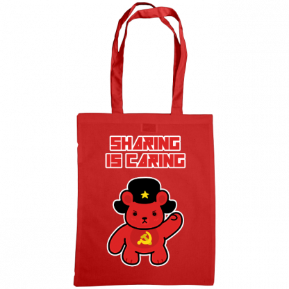 Sharing is caring sharebear bag red