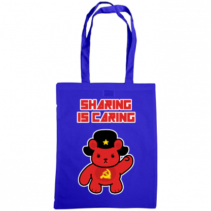 Sharing is caring sharebear bag royal blue