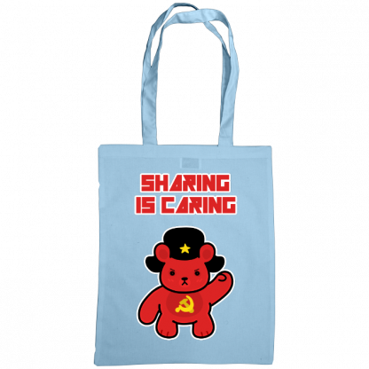 Sharing is caring sharebear bag sky blue