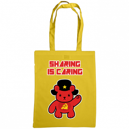 Sharing is caring sharebear bag sunflower