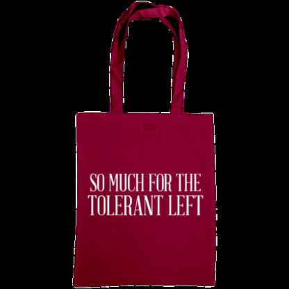 so much for the tolerant left bag burgundy