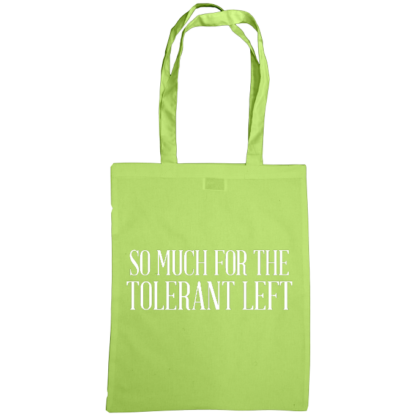 so much for the tolerant left bag lime