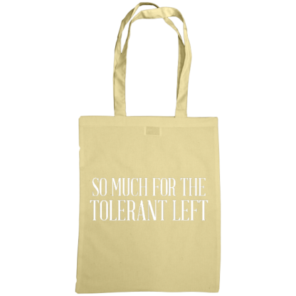 so much for the tolerant left bag natural