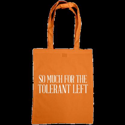 so much for the tolerant left bag orange