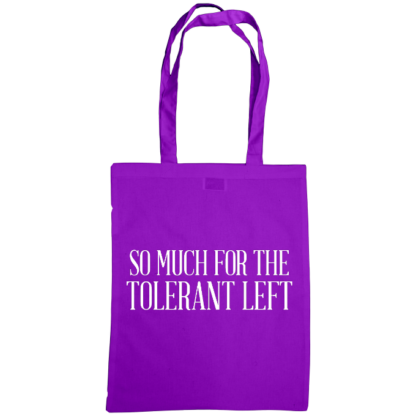 so much for the tolerant left bag purple