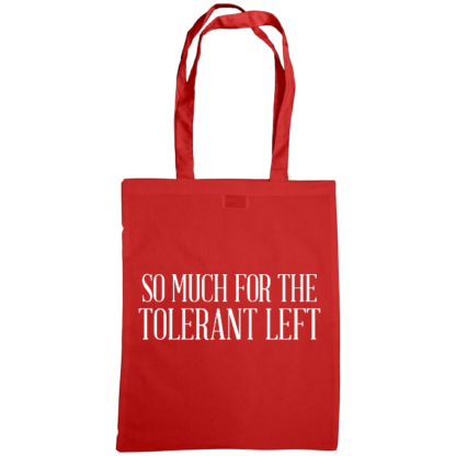 so much for the tolerant left bag red