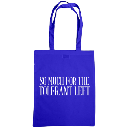 so much for the tolerant left bag royal blue