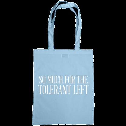 so much for the tolerant left bag sky blue