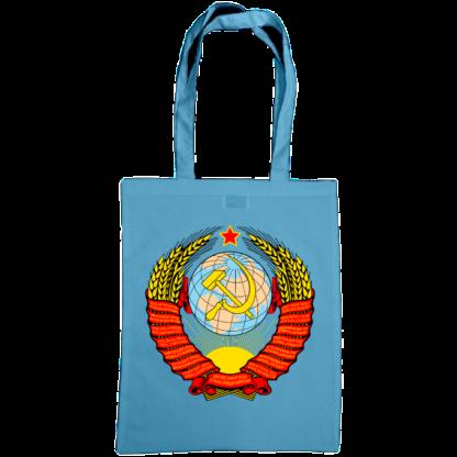 soviet crest ussr bag cornflower