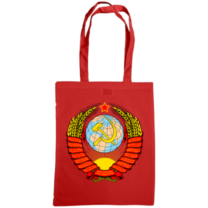 soviet crest ussr bag red