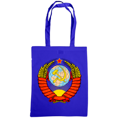 soviet crest ussr bag royal blue