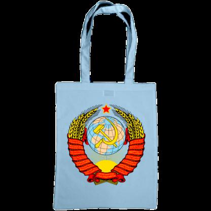 soviet crest ussr bag sky blue
