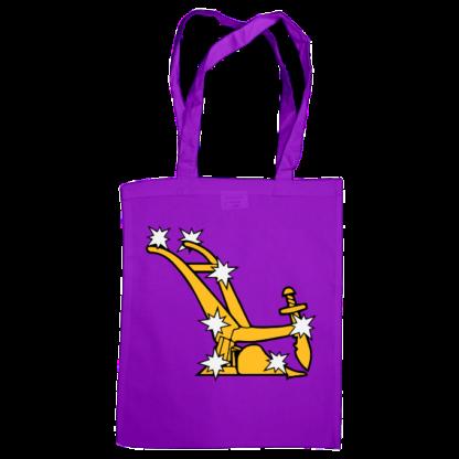 starry plough bag purple