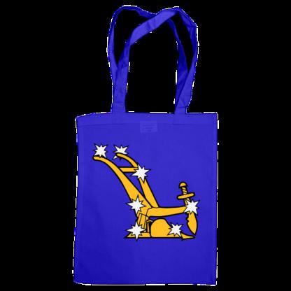 starry plough bag royal blue