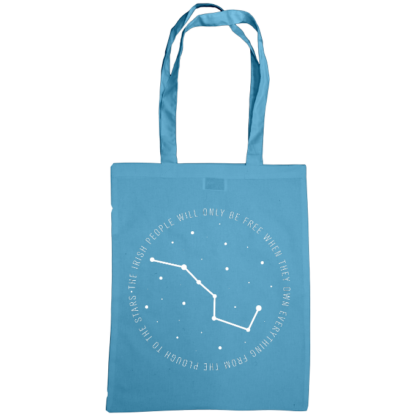 the irish people will only be free when they own everything from the plough to the stars bag cornflower