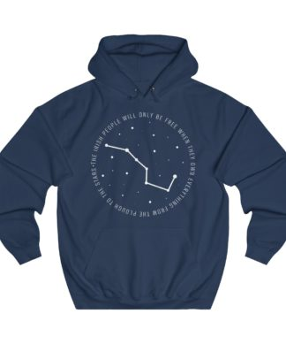 the irish people will only be free when they own everything from the plough to the stars hoodie navy blue