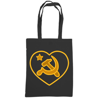 we love communism bag black