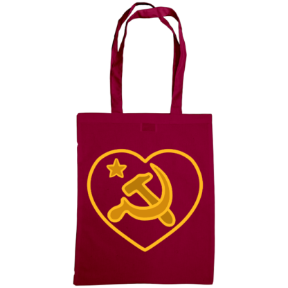 we love communism bag burgundy