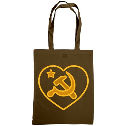 we love communism bag chestnut