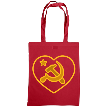 we love communism bag cranberry
