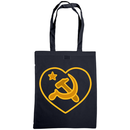 we love communism bag french navy
