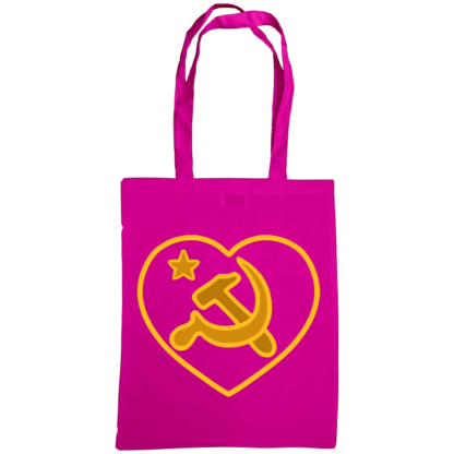 we love communism bag fuscia