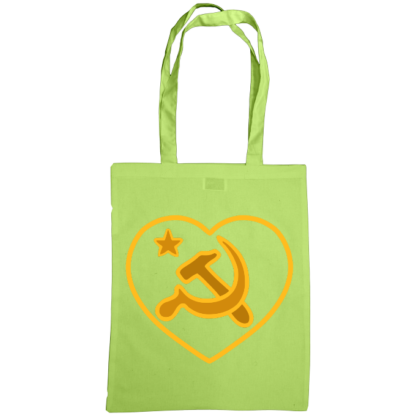 we love communism bag lime