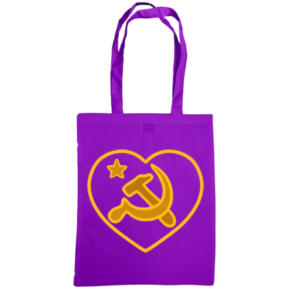 we love communism bag purple