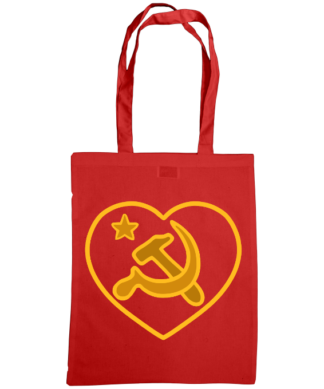 we love communism bag red