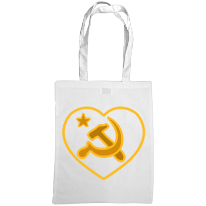 we love communism bag white