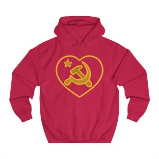 we love communism hoodie red
