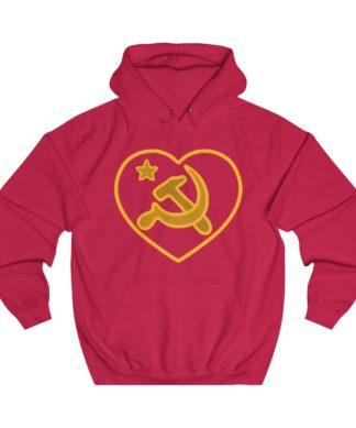 we love communism hoodie red