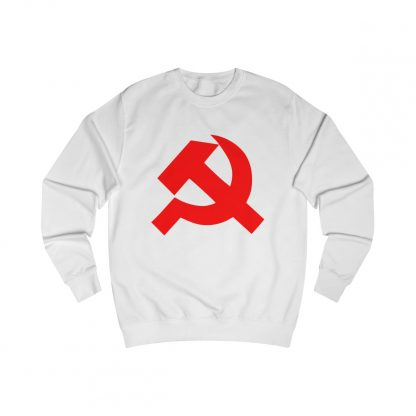 36125.Hammer and sickle sweatshirt white