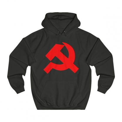 Hammer and sickle hoodie black